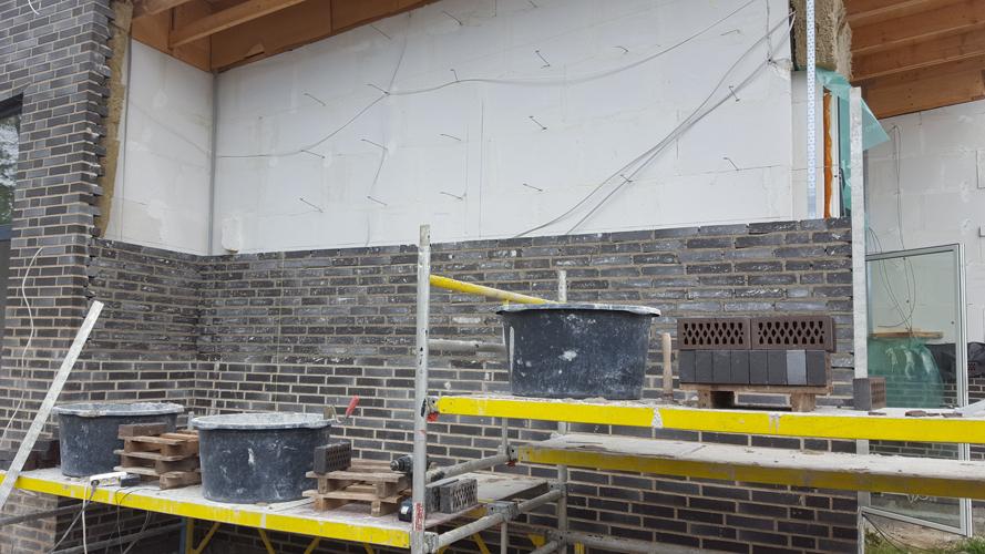 Nyt murværk i nyt hus
