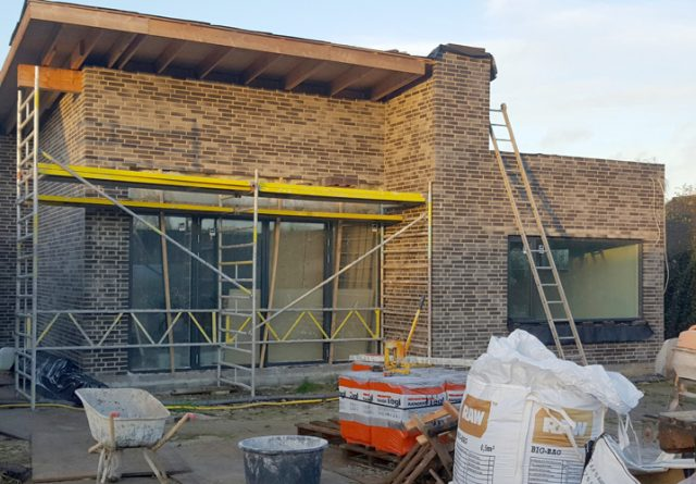 Nyt muret moderne hus