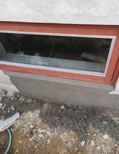 sokkel vindue