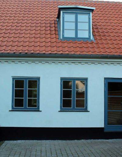 Hus med ny facade